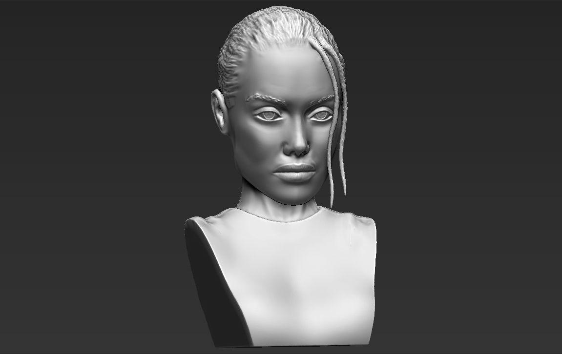 Lara Croft Angelina Jolie bust 3D printing ready stl obj formats