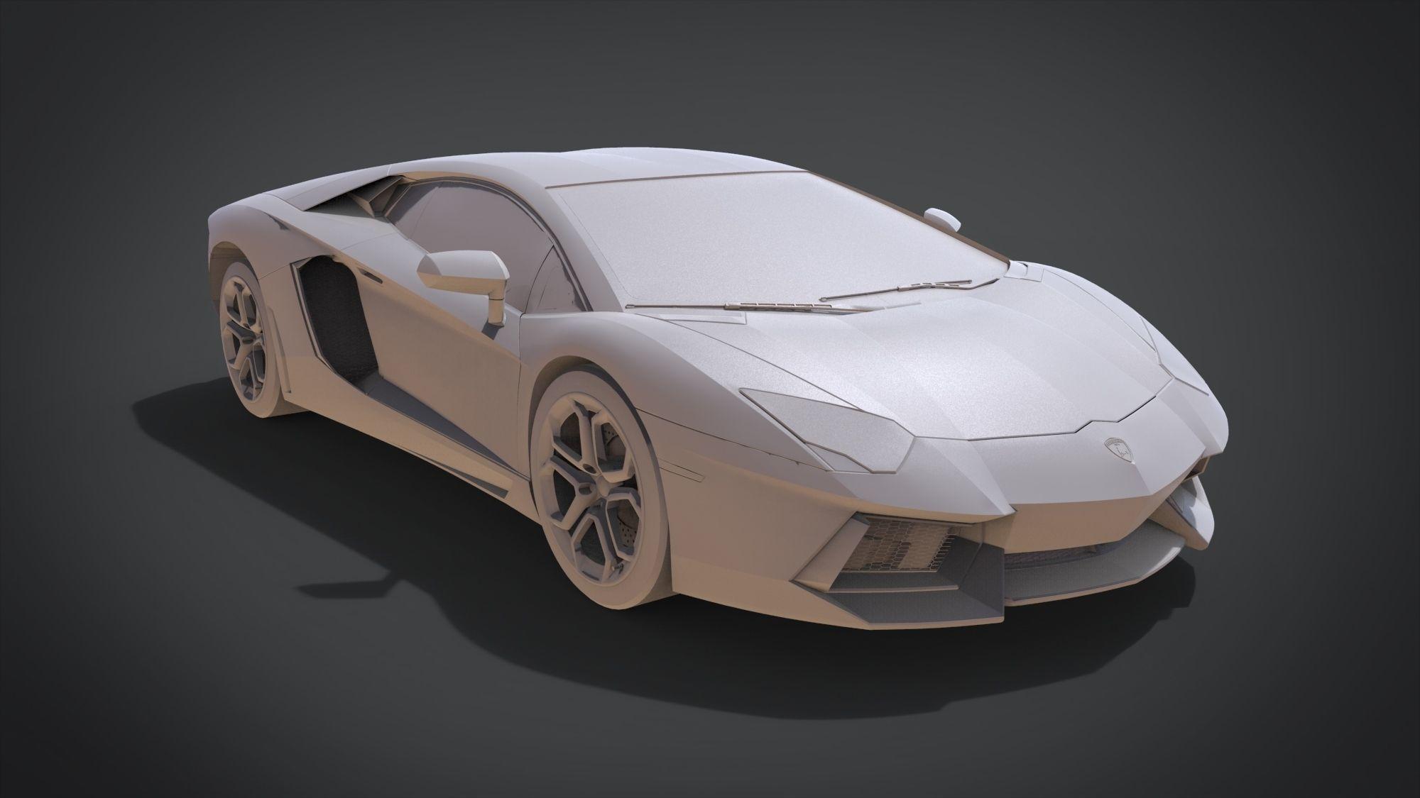 3d Printable Model Lamborghini Aventador Cgtrader