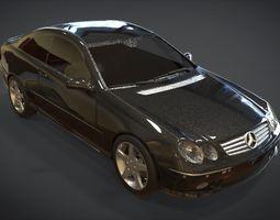 3D asset Mercedes CLK 500