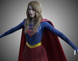 3D model animated BizarroGirl - Bizarro Supergirl