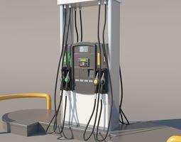 gasoline Fuel Dispenser 3D model