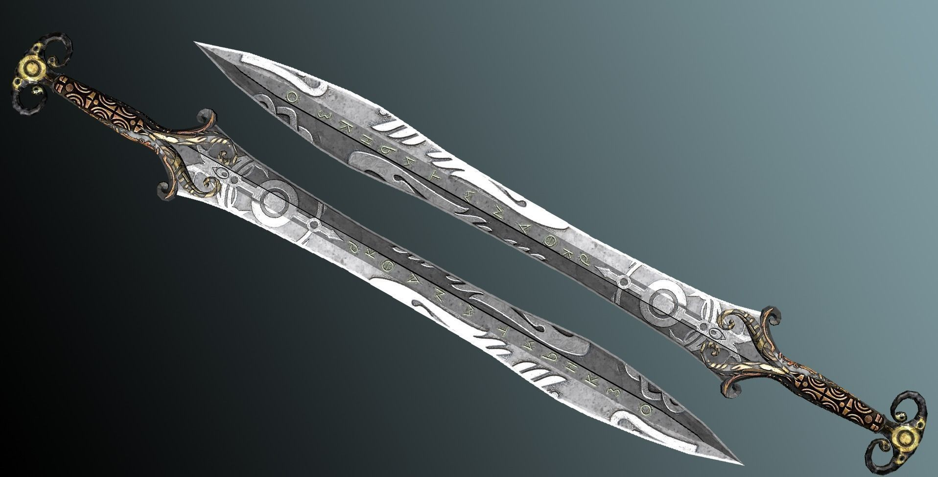 3D model Fantasy Sword VR / AR / low-poly FBX | CGTrader.com