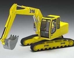Excavator Loader car 3D model
