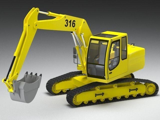 excavator loader  3d model max obj mtl fbx ms 1