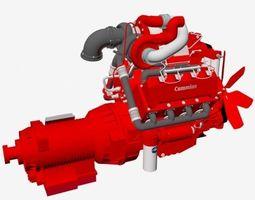 3D model Compact V8 twin turbo
