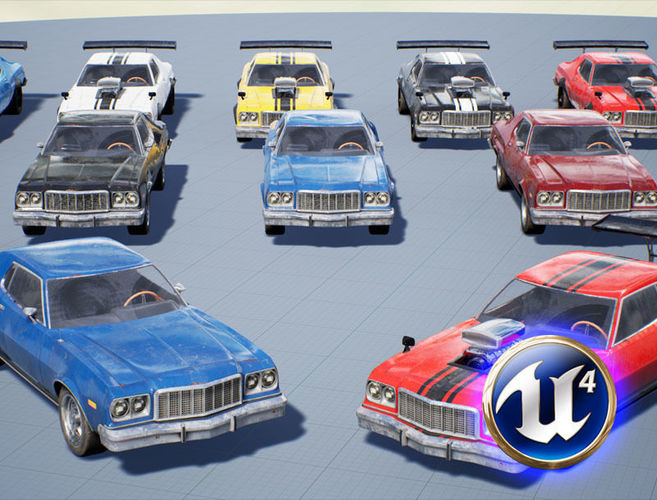 Muscle Car Pack for Unreal Engine 4 | 3D model