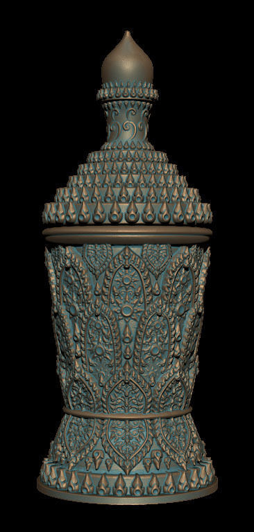 The Cup Thai Pattern - 3D Printing Model