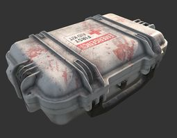3D asset Military First Aid Kit Case