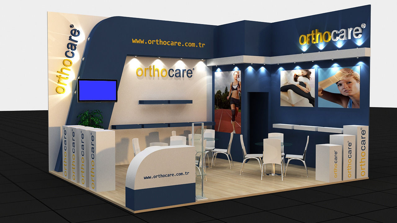 3d Exhibition Model : Orthocare exhibition stand d model max cgtrader