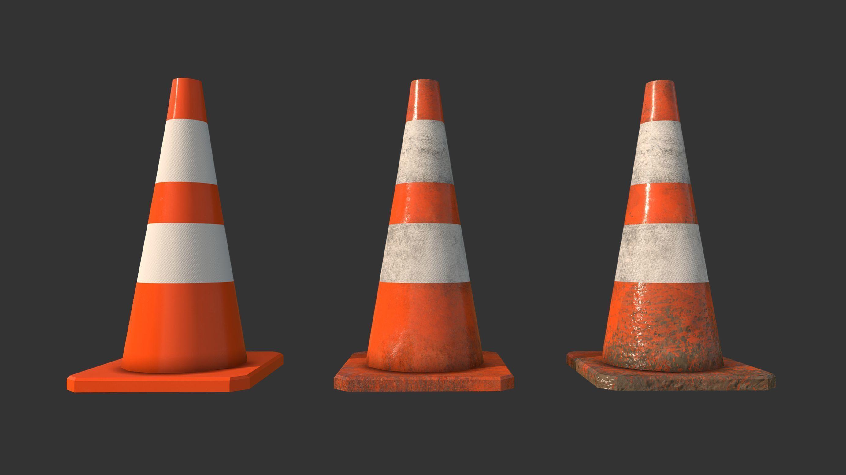 Traffic Cones Construction Set