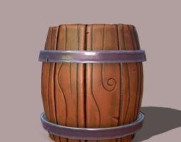 3D asset Stylized barrel