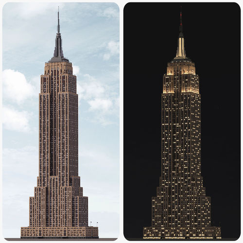 empire state building - day and night 3d model low-poly max 3ds fbx 1