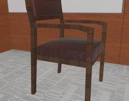 3D asset Wooden Guest Chair