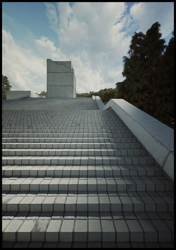 tadao museum stairs form third  seventh shortfilm 3d scene 3d model animated max pdf 1