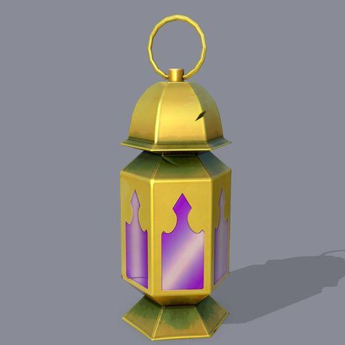 magic lamp 3d model low-poly obj mtl fbx tga 1