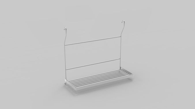 kitchenware metal part 3d model max obj mtl 3ds fbx 1