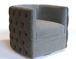 Bernhardt Upholstered Accents Palazzo Swivel 3D model