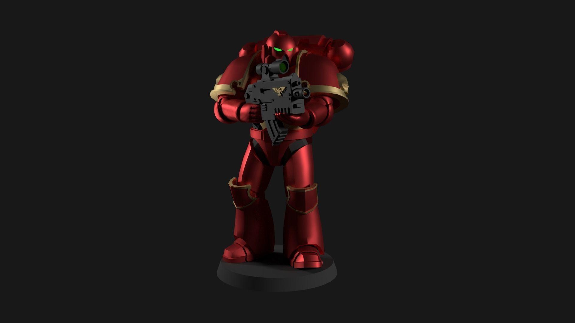 Space Marine Miniature Warhammer 40k | 3D Print Model