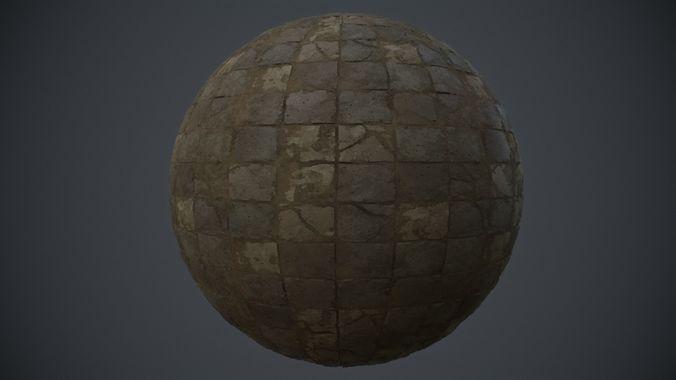 Stone Floor PBR Tile Material