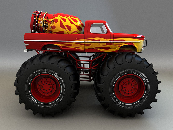 3d model monster truck monster truck cgtrader for Monster 3d model