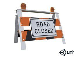 3D asset Road Barrier