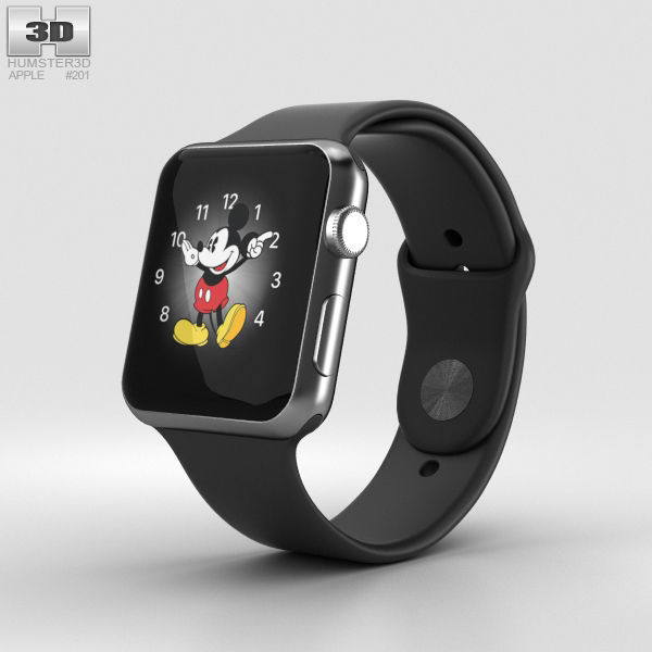 reputable site d2a56 bd529 Apple Watch Series 2 42mm Space Black Stainless Steel Case Black | 3D model