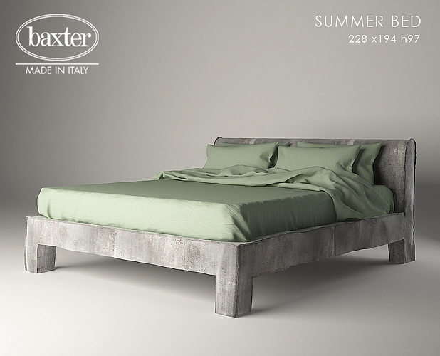 Baxter Summer Bed 3d Cgtrader