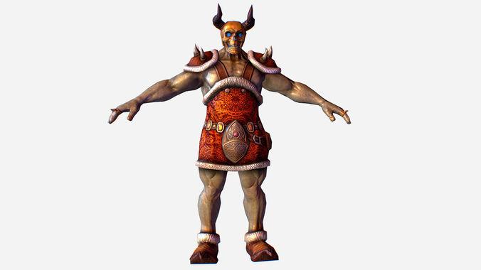 game mmo rpg character skull monster santa 3d model max obj mtl fbx ma mb tga 1