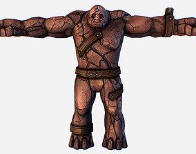 3D model Game MMO RPG Character Skull Monster Clay