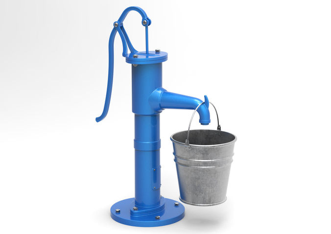 water pump and bucket 3d model max obj mtl fbx c4d 1