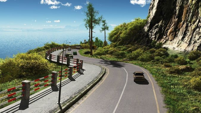 coastal road in vue 3d model vue 1