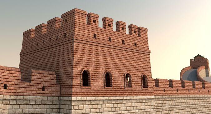 great wall of china 3d model max obj mtl 3ds fbx ma mb 1