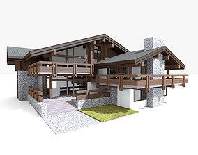 Chalet House Villa 3D model