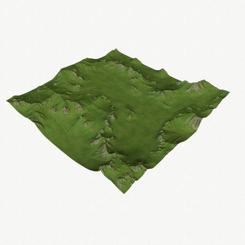 landscape 41 3d model low-poly obj mtl 1