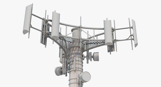 cell tower 3d model max obj mtl 3ds fbx ma mb 1
