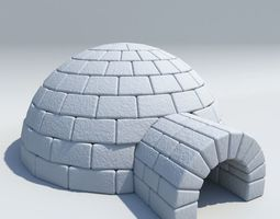 penguin 3D model Igloo