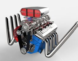 vehicle 3D model Blown V8