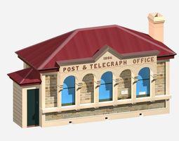 Post Office Building 3D asset