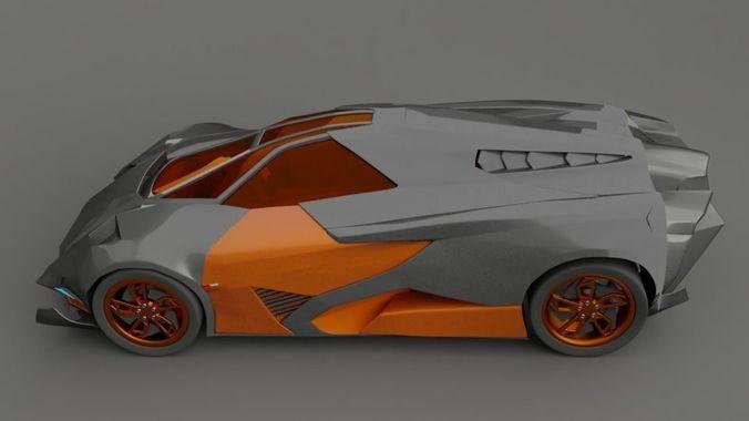 Lamborghini Set 3d Model Cgtrader