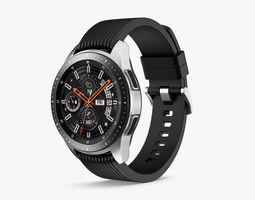 Samsung Galaxy Watch 42mm Midnight Black 2018 3D model