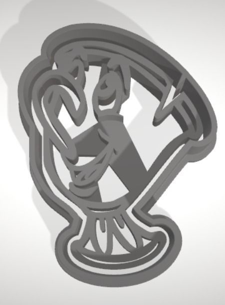 Chip cookie cutter with intricate detail