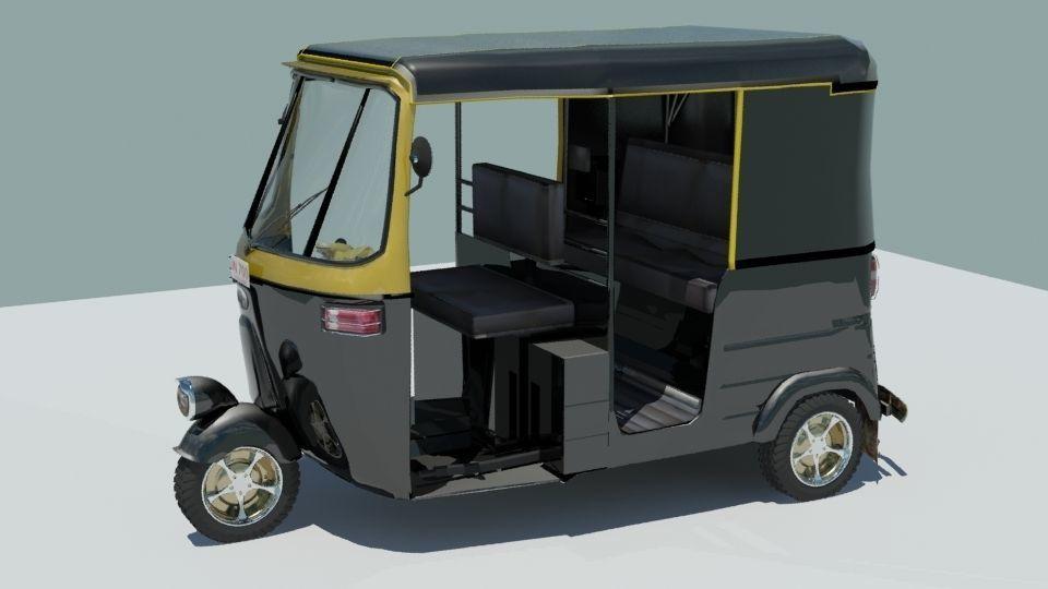 Indina auto rickshaw black