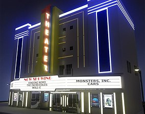 Movie Theater 3D model