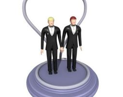 3D Wedding Toppers Two Men