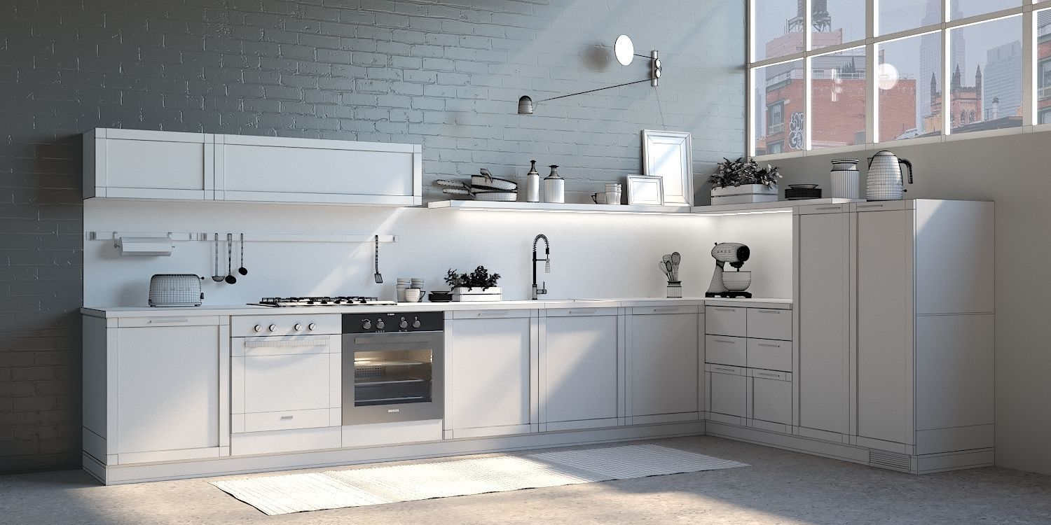 kitchen scavolini Carattere 3D model | CGTrader