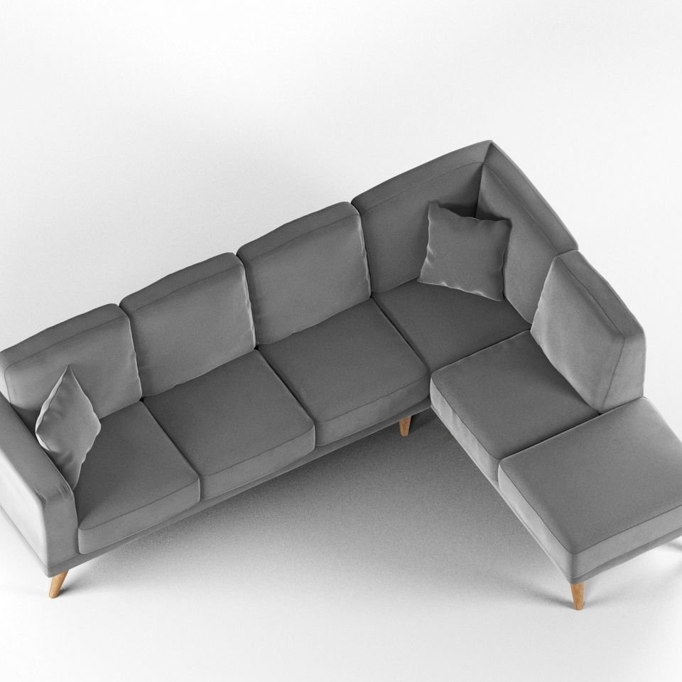 Modern L Shaped Sofa Model Max Obj Mtl 1