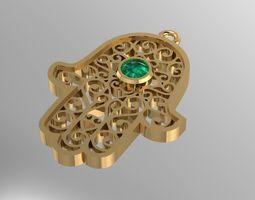 HAMSA hand pendant 3D printable model