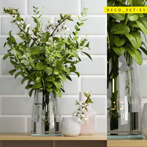 decorative set 31 3d model max obj mtl 1