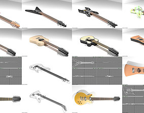 Collection of Guitar 3D model
