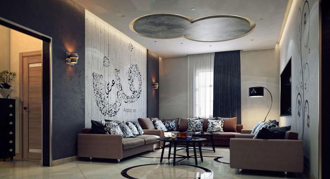 living room 3d model max 1